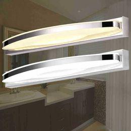 Wholesale Bathroom Mirror Cabinets Lights - Modern Bathroom Cabinet Led Mirror Light 54cm 15W LED Crystal Bathroom Wall Lamp Mirror Front Wall Light Wall Sconces Washroom Wall Lamp