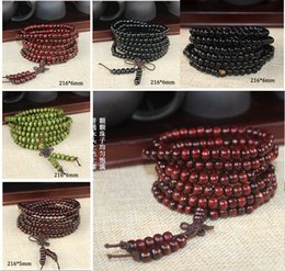 Wholesale 216 Bead Mala - 2016 Hot sales 216*6mm 5mm Natural Sandalwood Buddhist Buddha Meditation 108 beads Wood Prayer Bead Mala Bracelet Women Men jewelry