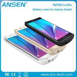 Wholesale Galaxy Note Charger Case - power battery case 4200mAh Extended Battery Power Pack Charger Case Cover For Samsung Galaxy Note 5