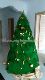 Wholesale Christmas Discount Clothing - Hot Christmas tree mascot clothing discount sale, high quality green Christmas tree mascot suit adult type free shipping.