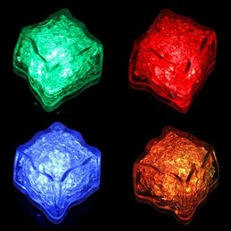 Wholesale Led Cube Tables - 6Colors-12Pcs lot White LED Waterproof Ice Cubes Light For parties and light up wedding tables and centerpieces with stunning light up cubes