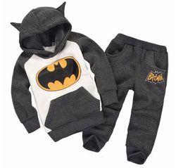 Wholesale Boys Sport Hoodies - Fashion 2017 autumn Children Outfits Tracksuit Batman Clothing Children Hoodies + Kids Pants Sport Suit Boys girls Clothing Sets