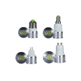 Wholesale Mini Led 35mm - Mini led bulb E27 LED spotlight 1W 3W diameter 35mm GU10 GU5.3 E14 home lighting LED Bulbs Warm White Blue Red Yellow 85-265V