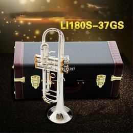 Wholesale Instrument Trumpet Silver - Wholesale- American Bach trumpet gold and silver plated silver LT180S-37GS silver plated Bach small Top Musical instruments