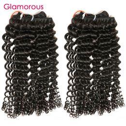 Wholesale Tights Bundle - Glamorous Cambodian Human Hair 100% Virgin Hair Weaves 3 Bundles Tight Curly Mongolian Indian Brazilian Human Hair Extensions Wholesale