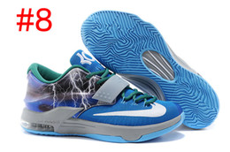 Wholesale Cheap Kd Shoes Free Shipping - Cheap Kevin Durant KD 7 Basketball Shoes For Men High Quality Sports Sneakers Free Shipping