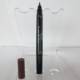 Wholesale End Tools - Kylie Double-end Waterproof Double Sided Liquid Eyebrow Pen Eyeliner Eye Liner Pencil Makeup Cosmetic Tools Black+Brown 2 in 1