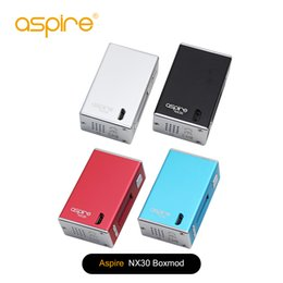 Wholesale Lipo Fast - fast shipping Aspire NX30 Box MOD Powered by 2000mAh built-in LiPo battery works with Nautilus X Tank Atomizer 100% Original