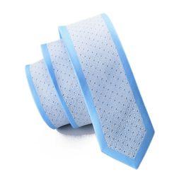 белый Скидка Высокое качество узкий галстук 2016 горячие продажа твердые галстуки для мужчин 6 см стрелка форма галстук мужчины Марка небо Bllue галстук Белый Prink E-115