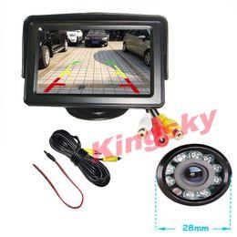 "Wholesale Day Night Ir Cameras - New 4.3"" Car LCD Monitor + 9 IR LED Day Night Reversing Car Rear view Backup Camera Kit"