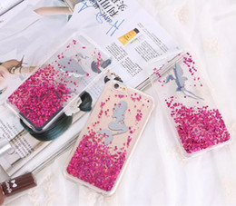 Wholesale Iphone Case Bling Mix - Liquid Girl Angle Ariel mermaid Bling star soft TPU case back cover for iphone 6 6S Plus Case mix color by dhl
