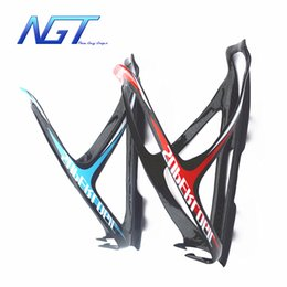 Wholesale Bicycle Water Bottle Cage Mount - NGT New Design full 3k Glossy Carbon Fiber Road Mounting Bicycle Bike Cycling Water Bottle Holder Cage carbon bottle cage