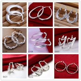 Wholesale Number Plate Clips - New arrival women's sterling silver earring 10 pairs a lot mixed style EME62,brand new fashion 925 silver Ear clip earrings