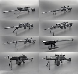 Wholesale Plastic Soldiers - 8Pcs 1 6 Soldier Weapons Rocket Launcher Air Defense Missile New Weapons and Equipment Sniper Rifle Toy Model