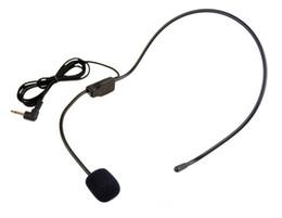 Wholesale Teaching Microphones - Headworn Microphone 3.5mm Headset Megaphone Radio Mic For Loudspeaker Teaching Meeting Tour Guide Microfones