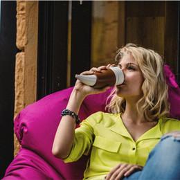 2019 corna di capra Nuovo design 330 ML Corna di capra Thermos in acciaio inossidabile Tazza di caffè Tazza di corno Tazza da viaggio Bottiglia con tazze di isolamento in corda corna di capra economici
