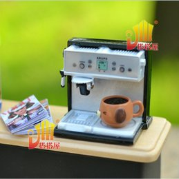 Wholesale Dollhouse Cups - G05-X413 children baby gift Toy 1:12 Dollhouse mini Furniture Miniature rement coffee machine and cup set