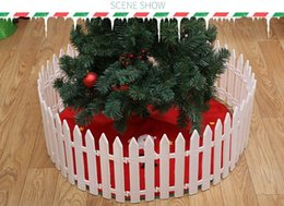 Wholesale White Plastic Fencing - Plastic Fence Garden White Decorated Garden Flowerbed Kindergarten Christmas Fence Small HB036