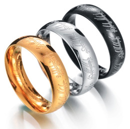 Wholesale Indian Trade - Husband Father Gifts jewelry wholesale stainless steel ring rings silver Ring Band Weddingpiece selling foreign trade size16-23 gold silver