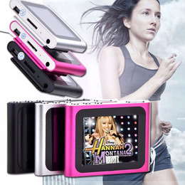 Wholesale Generation Green - 8GB 6th Generation Clip Digital MP4 Player Digital 1.8 inches touch Screen FM Radio Video Music Mp3 E-Book Games Photo R-661 free shipping