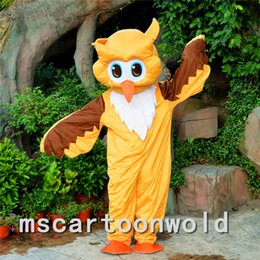 Desenhos animados do traje da mascote da águia on-line-2016 NOVA Brown Águia Coruja Mascot Costume Dos Desenhos Animados Boneca Fancy Dress Natal Halloween party costume Bom Frete Grátis