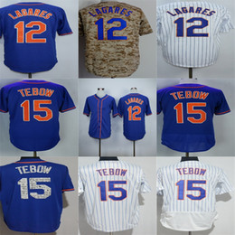 Wholesale Mens Camo Shorts - Wholesale New York 12 Juan Lagares 15 Tim Tebow Mens Womens Kids Toddlers Cool Flex Base Blue Camo White Grey Stitched Baseball Jerseys
