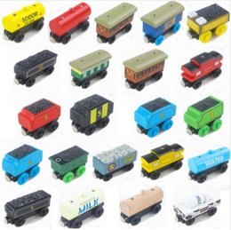 Wholesale Thomas Train Toy Plastic - Wooden Toys Thomas Train Car Magnetic Thomas And Friends Wooden Model Train Kids Toys Car