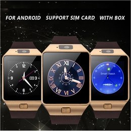 Wholesale Facebook Messaging - updated DZ09 smartwatch w  facebook whatsapp Twitter Bluetooth Smart Watch With SIM Card For Apple Samsung IOS Android w  retail box