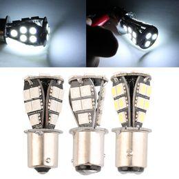 Wholesale Ba15d 12v - 1156 21 SMD BA15d led car bulbs canbus No Error py21w Lamp External Lights Car Light Source 12V Red White Yellow