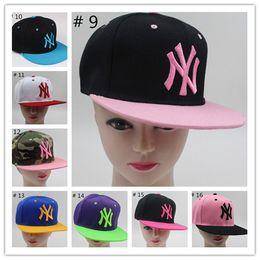 Wholesale cartoon snapbacks caps - Snapbacks Hip-Hop Caps NY Caps Casual Cartoon Peripheral Adjustable Baseball Hats Boys and Girls Sunshine Cap Letter Pattern