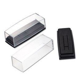 Wholesale Tie Gift Box Packaging - Wholesale Clear Cover Box for Tie Clip Pin Gift Boxes Wedding Engagement Favours Stickpin Display & Packaging Casket