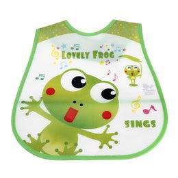 Wholesale Baby Health - Wholesale- Convenience and health Cartoon Baby Soft Bibs Waterproof Burp Cloths For Children Self Feeding Care