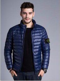 Wholesale Thin Full Brief - HOT SALE new brand during spring autumn winter stoned is land collar thin coats men brief paragraph Men's down jacket