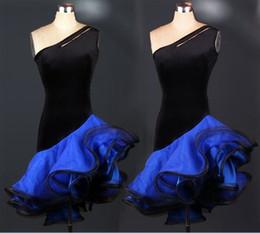 Vestidos de baile latino nuevos personalizados Púrpura / Rojo / Rosa / Negro / Azul / Verde / Vestidos de baile Zebra Ball Cha Cha / Rumba / Samba Dancewear desde fabricantes