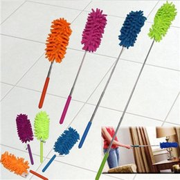 Wholesale Car Duster Case - Adjustable Chenille Car Feather Duster Dust Duster Dust Shan Dusting Brush Household Handle Magic Dusters