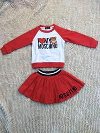 Wholesale pajamas black - 2017 Baby & Kids Autumn Cartoon Clothing Sets Baby Boys Casual 2-Piece Suit Set Baby Girls Long-sleeved Pajamas Clothing Set