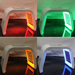 Wholesale skin care light therapy - 4 Colors LED PDT Light Skin Care Beauty Machine LED Facial SPA PDT Therapy For Skin Rejuvenation Acne Remover Anti-wrinkle