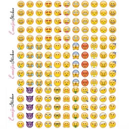Wholesale 660 Emoji Face Stickers Removable Decal Mural Home Decor Emoji Smile Sticker For Laptop Notebook Facebook Tiwtter Children Gifts WX S13