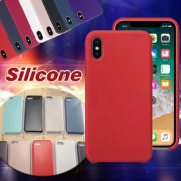 Wholesale Phone Case Slim - Silicone Case Candy Color Slim Ultra Thin Soft Rubber Solid Mobile Phone Protection Cover For iPhone X 8 Plus 7 6 6S With Retail Package