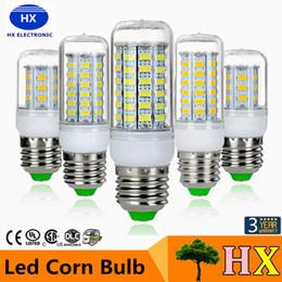 Wholesale E12 Bulb White - SMD5730 E27 GU10 B22 E14 G9 LED lamp 7W 12W 15W 18W 220V 110V 360 angle SMD LED Bulb Led Corn light 24LED