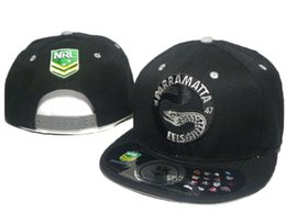 Wholesale Active Orders - 2016 black NRL team snapback Parramatta Eels Men Causal Headwear adjustable sports snapbacks caps ball hats drop shipping mix order DD