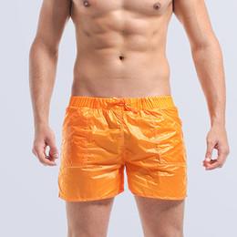 Wholesale Thin Swim Suit - Wholesale-Ultralight Mens boardshorts Fashion Thin Beach Surfing Shorts Cool 100 Nylon Swim Boxer Shorts Orange Male Swimwear Bathing Suit