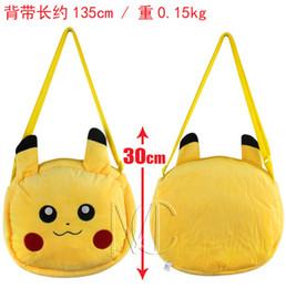 Wholesale Pokemon Plush Bag - Poke Bags Unisex cartoon Poke Ball Pikachu Bags Fashion Shoulder Bags Poke Go Plush Bags Poke Shoulder Bags 30CM FREE SHIP D651 5pcs