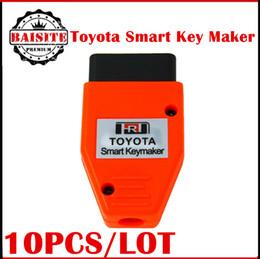 Wholesale Transponder Key Programmer Machine - 2017 Hot sales 10pcs lot Toyota Smart Key maker 4C 4D transponder chip key programming machine For Toyota Smart Keymaker free shipping