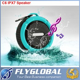 Wholesale Hi Fi Plus - C6 IPX7 Outdoor Sports Portable Waterproof Wireless Bluetooth Speaker Suction Cup Handsfree MIC Voice Box For iphone 6s Plus Smartphone