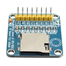 Wholesale Reader Boards - Freeshipping 3.3V 5V Micro SD TF Card Reader Module SPI  SDIO Dual Mode Board For Arduino easy to install New Electric Board 3.3X27X10mm