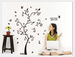 Wholesale Bird Live Wallpaper - Wholesale DIY Photo Frame Birds Tree Wall Stickers Bedroom Living Room TV Backdrop Decoration Wall Decor Removable Wallpaper