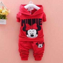 Wholesale Girl S Cartoon Patterns - Autumn kids suit girl Minnie clothes cartoon pattern hoodies+pant set 2 pieces children clothes suit cotton clothing 4 s l