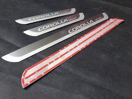 Wholesale Toyota Door Sills - Door Sill door guards Ultrathin Stainless Steel Scuff plate For Toyota Corolla 2014-2016