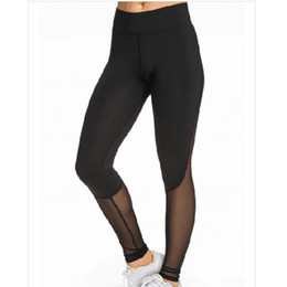 Wholesale Workout Pants For Women - Women's Sexy Bodycon Fitness Sports Leggings For Women Casual Slim Skinny Gym Sweatpants Mesh Patchwork Legging Workout Pants